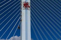 斜拉索桥梁锚具防护,充气式管道密
