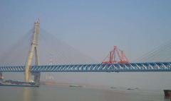 铜陵长江大桥斜拉索更换完工
