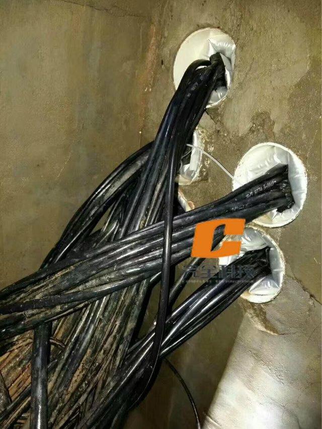 采用密封施工的电缆管道