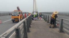 江肇高速大桥新型拉索密封系统试点安装