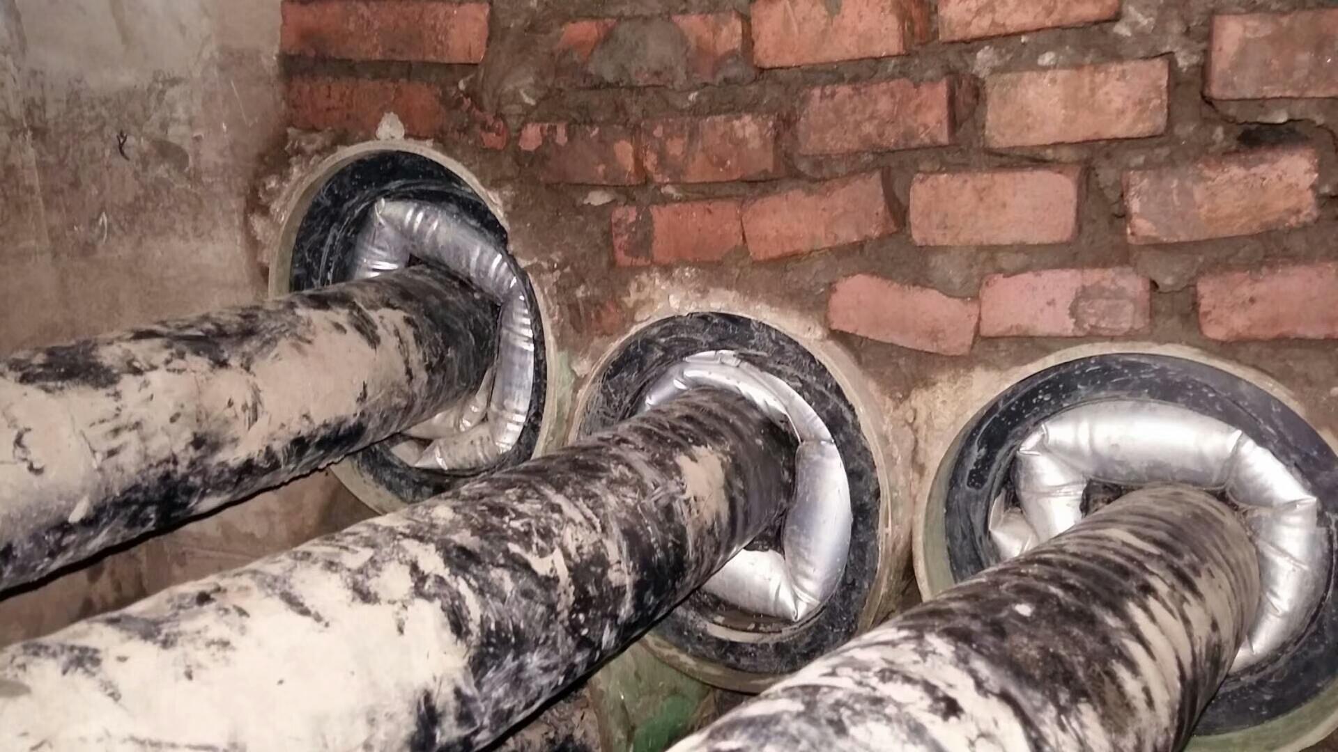 充气式管道封堵安装之后